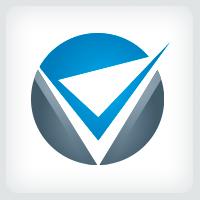 Letter V Checkmark Logo