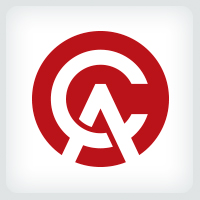 Letters CA or AC Logo