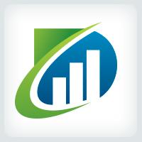 Letter D - Bar Charts Logo