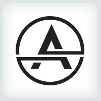 Circle Letter A Logo