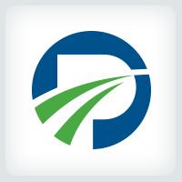 Letter P - Path Logo