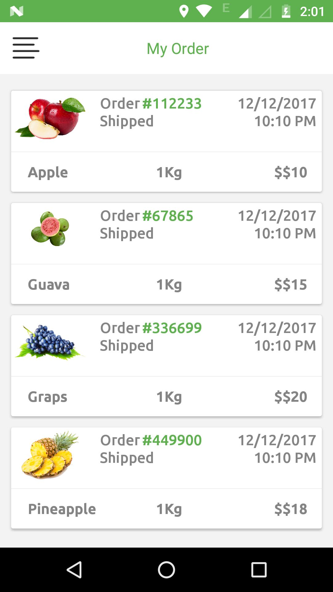 Grocery App UI Template Screenshot 1