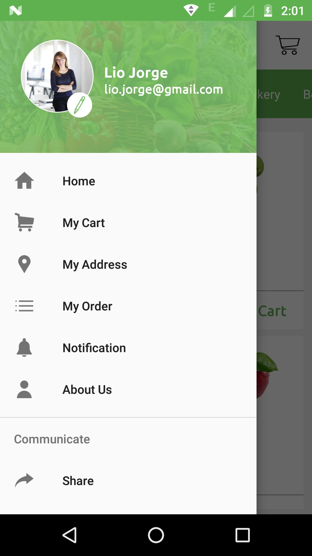 Grocery App UI Template Screenshot 2
