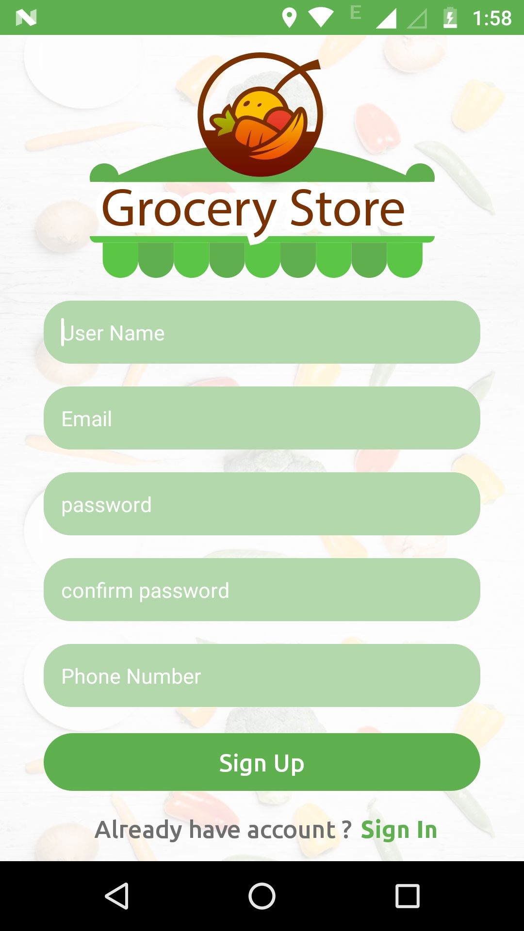Grocery App UI Template Screenshot 15