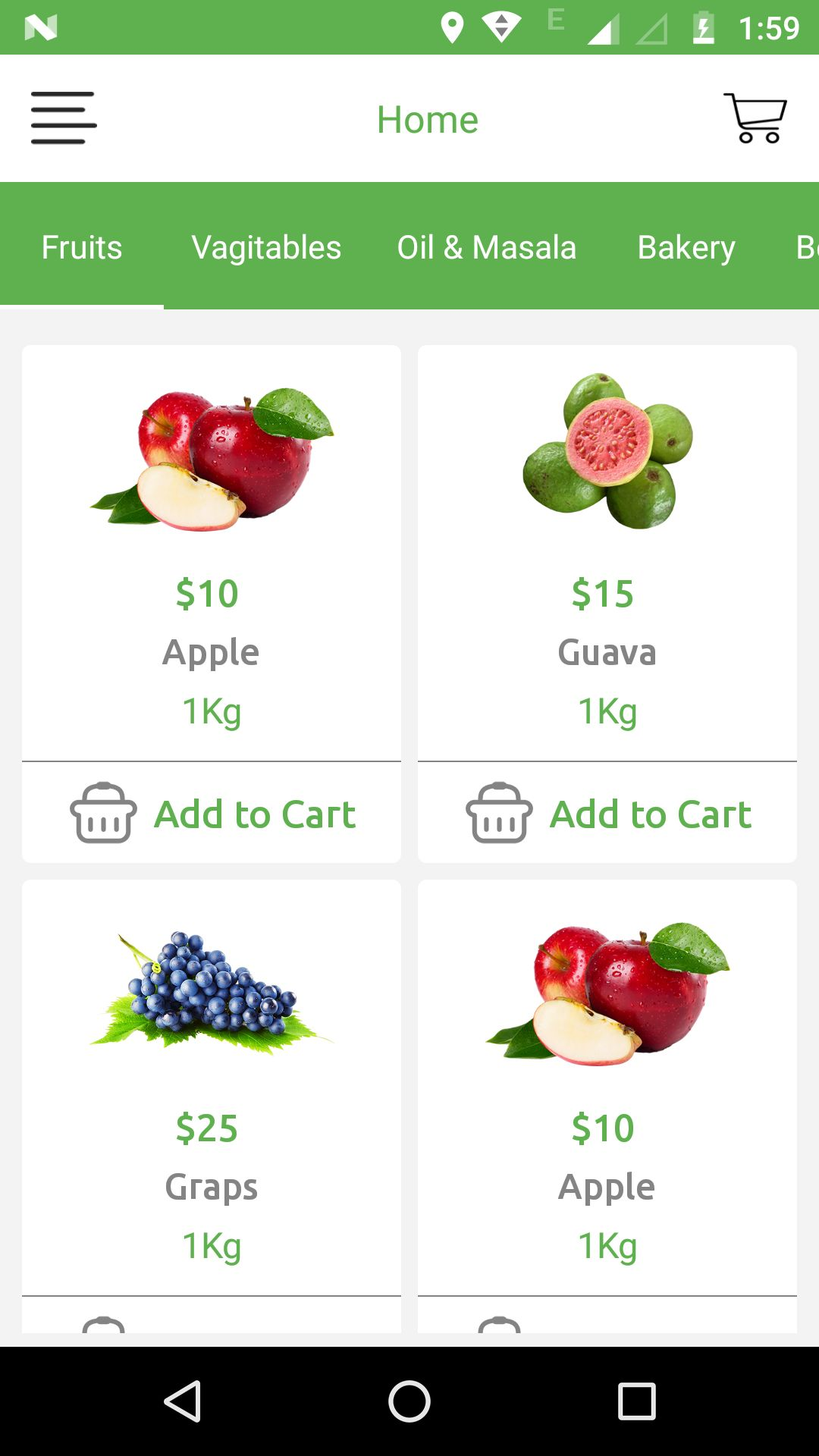Grocery App UI Template Screenshot 16
