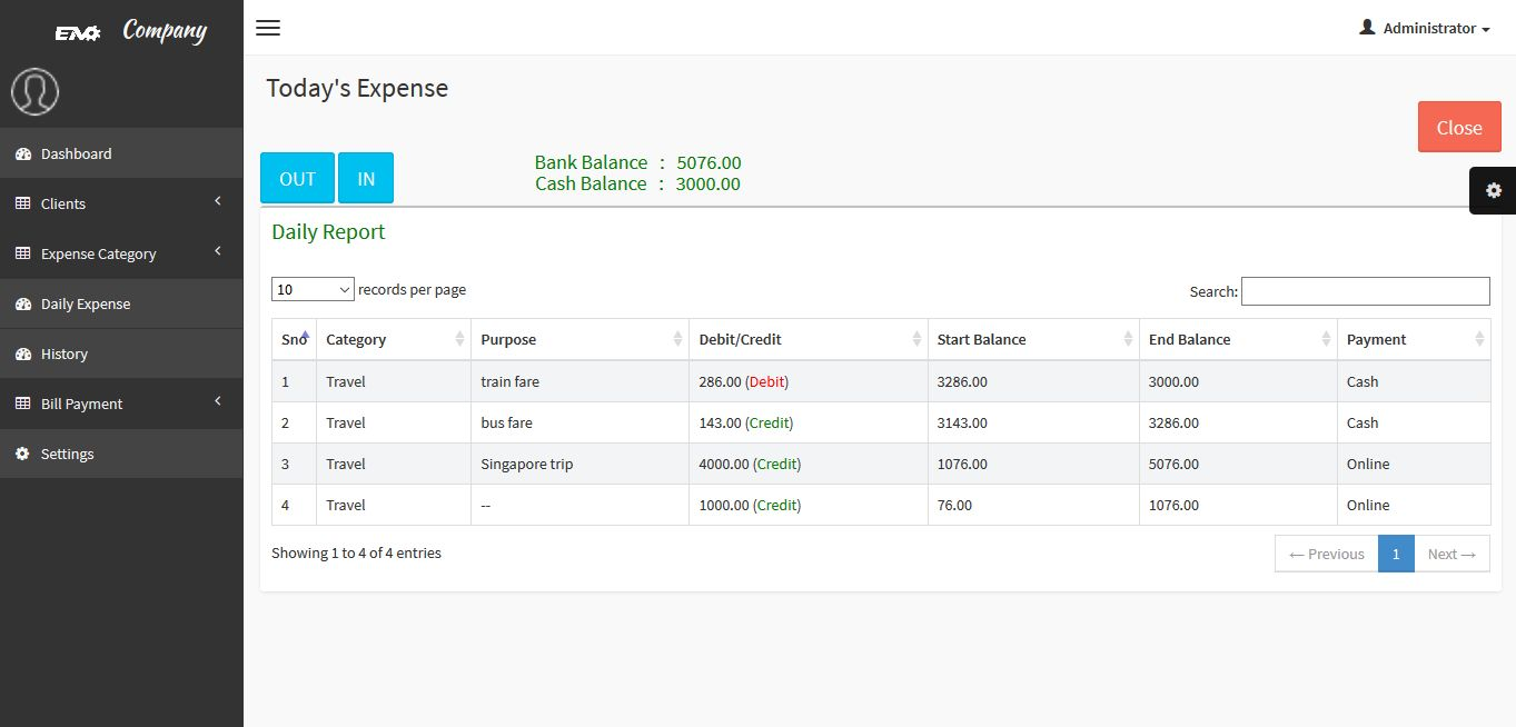 Expense Manager PHP Script Screenshot 10