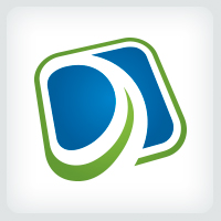 Abstract Letter D Logo