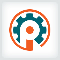 Letters PI or IP - Gear Logo