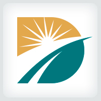 Letter D Horizon Logo