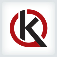 Letter K Speech Bubble Logo