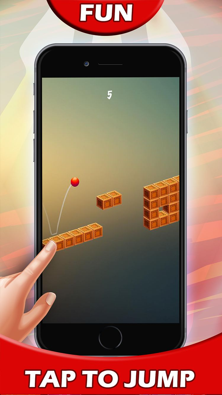 Jump Red Ball - Android and iOS Game Source Code Screenshot 1