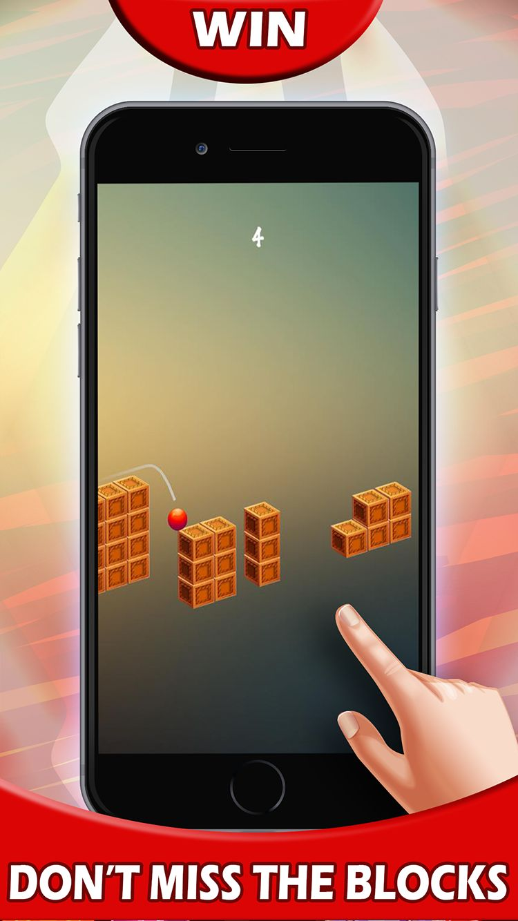 Jump Red Ball - Android and iOS Game Source Code Screenshot 2