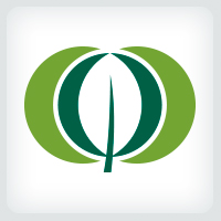 Overlapping Circle - Leaf Logo