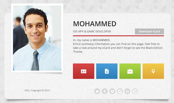 MC Resume - Responsive Resume HTML Template  Screenshot 2
