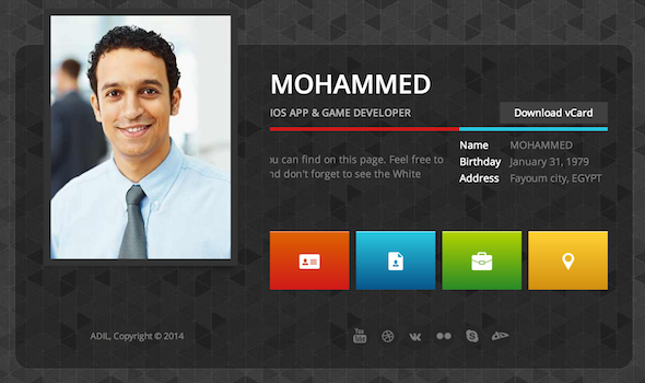 MC Resume - Responsive Resume HTML Template  Screenshot 3