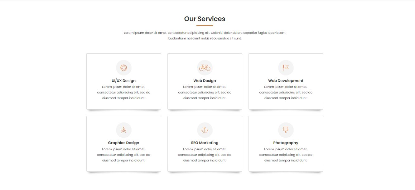 NANDINI - One Page Business html Template Screenshot 2