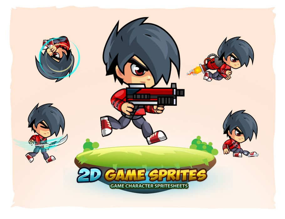 2D Game Character Sprites 17 Screenshot 1