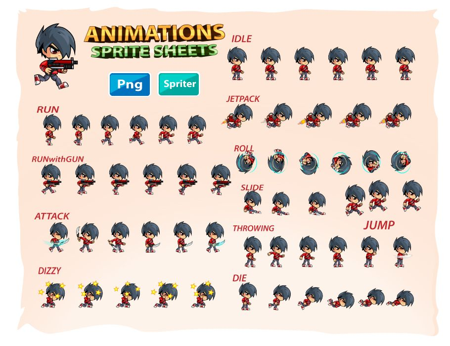 2D Game Character Sprites 17 Screenshot 2