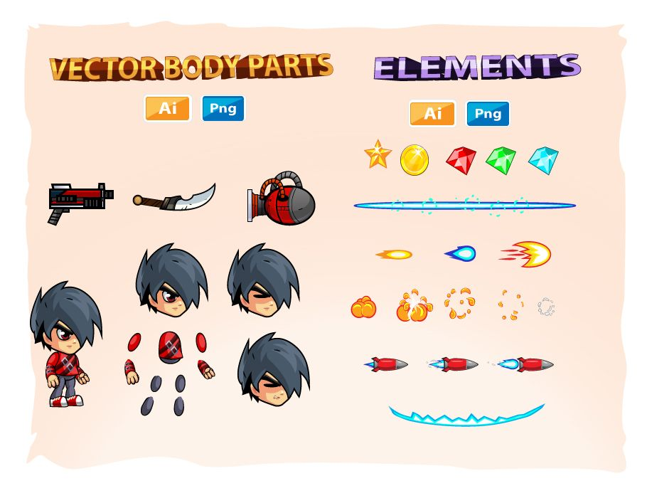 2D Game Character Sprites 17 Screenshot 3