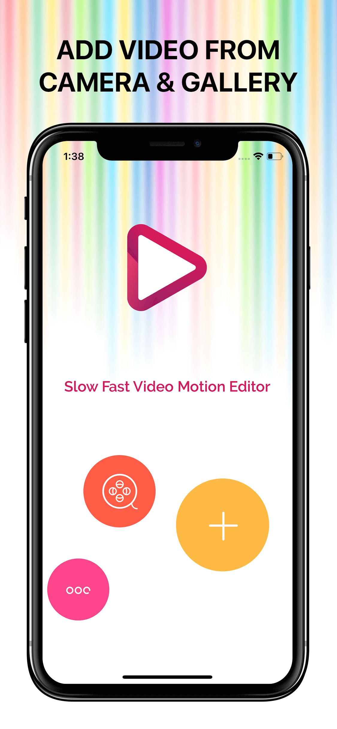 Slow Fast Motion Video Editor iOS Screenshot 1