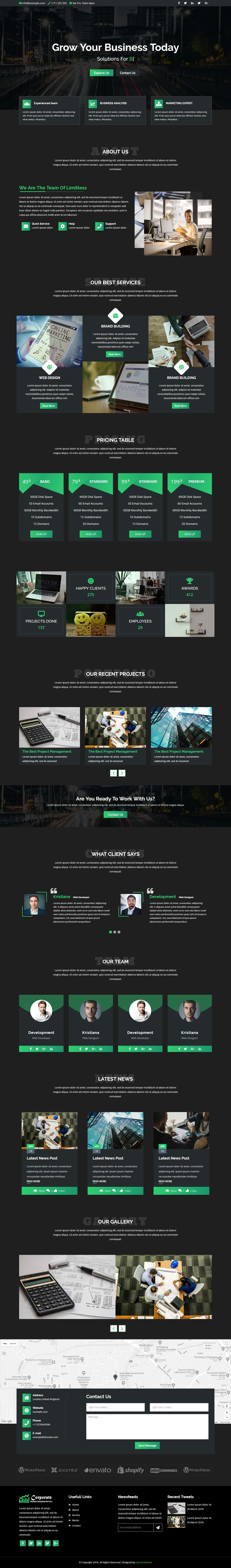 Corporate - Business and Portfolio Template Screenshot 1
