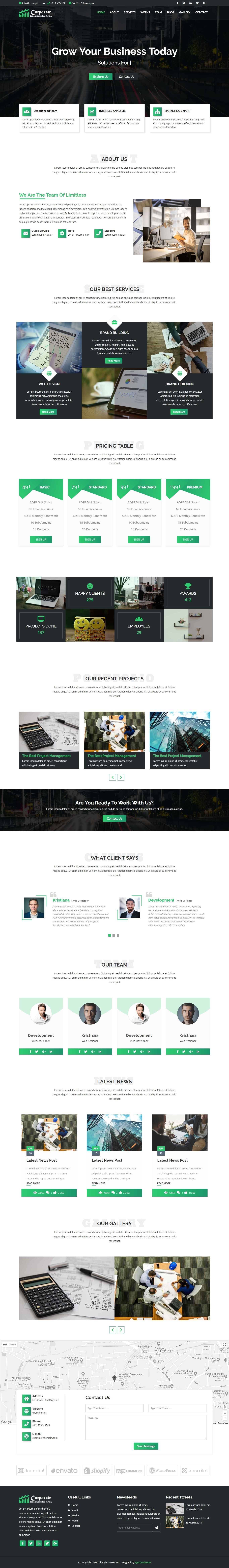 Corporate - Business and Portfolio Template Screenshot 2