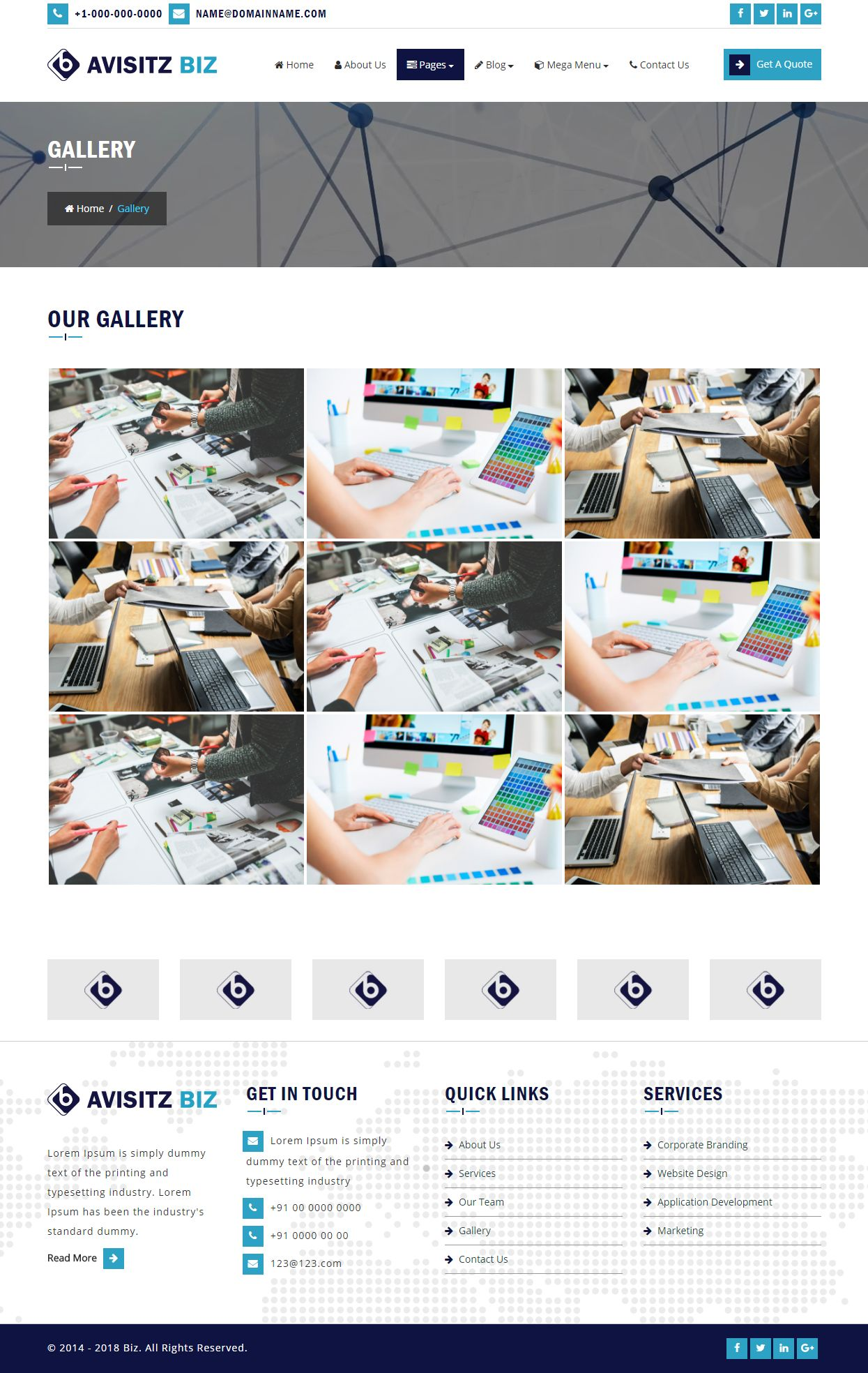 Avisitz Biz - Business Technology HTML5 Responsive Screenshot 1