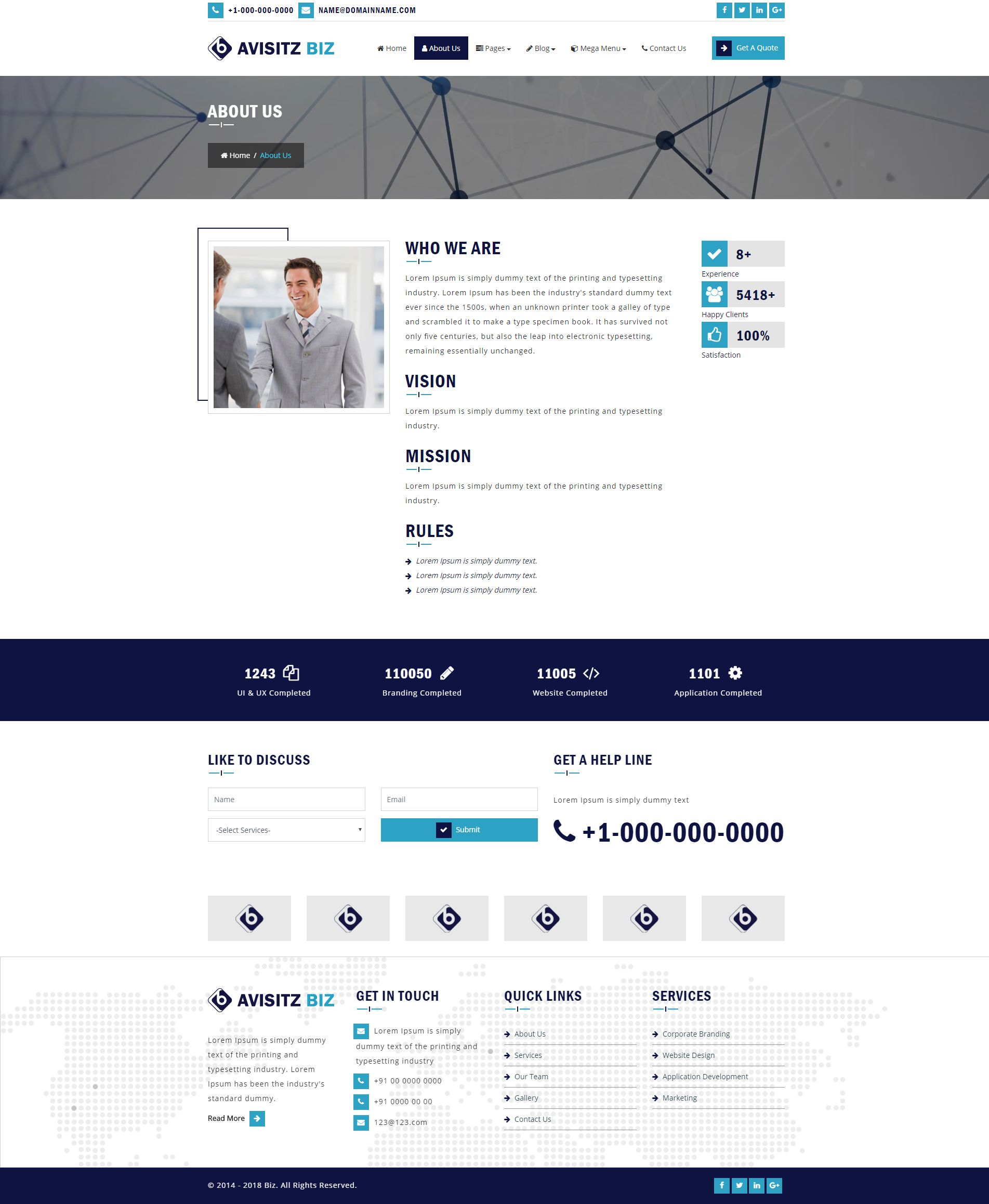 Avisitz Biz - Business Technology HTML5 Responsive Screenshot 2
