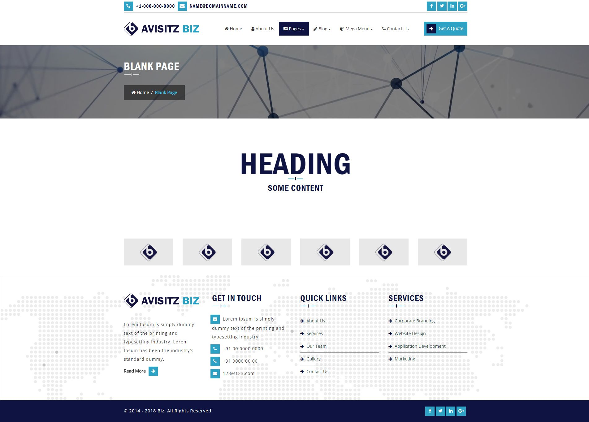 Avisitz Biz - Business Technology HTML5 Responsive Screenshot 3
