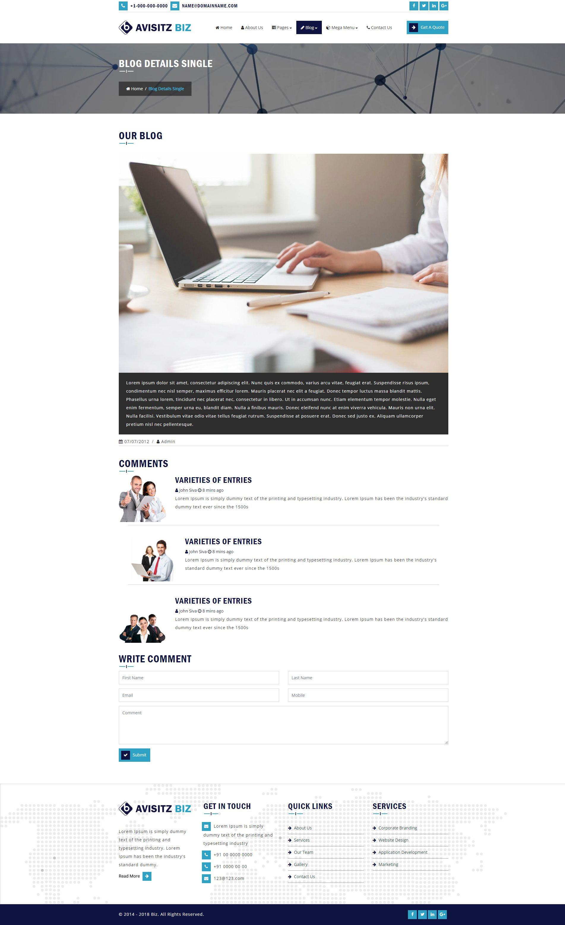 Avisitz Biz - Business Technology HTML5 Responsive Screenshot 5