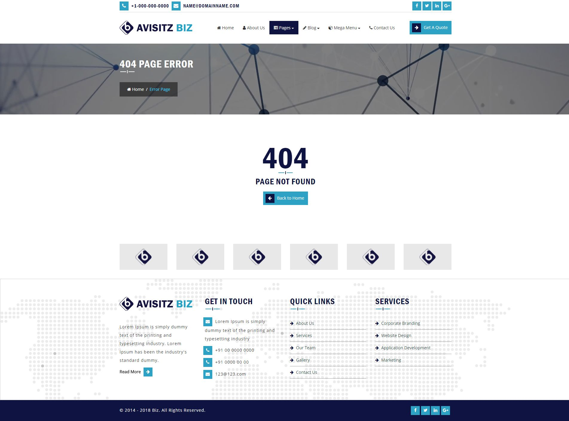 Avisitz Biz - Business Technology HTML5 Responsive Screenshot 10