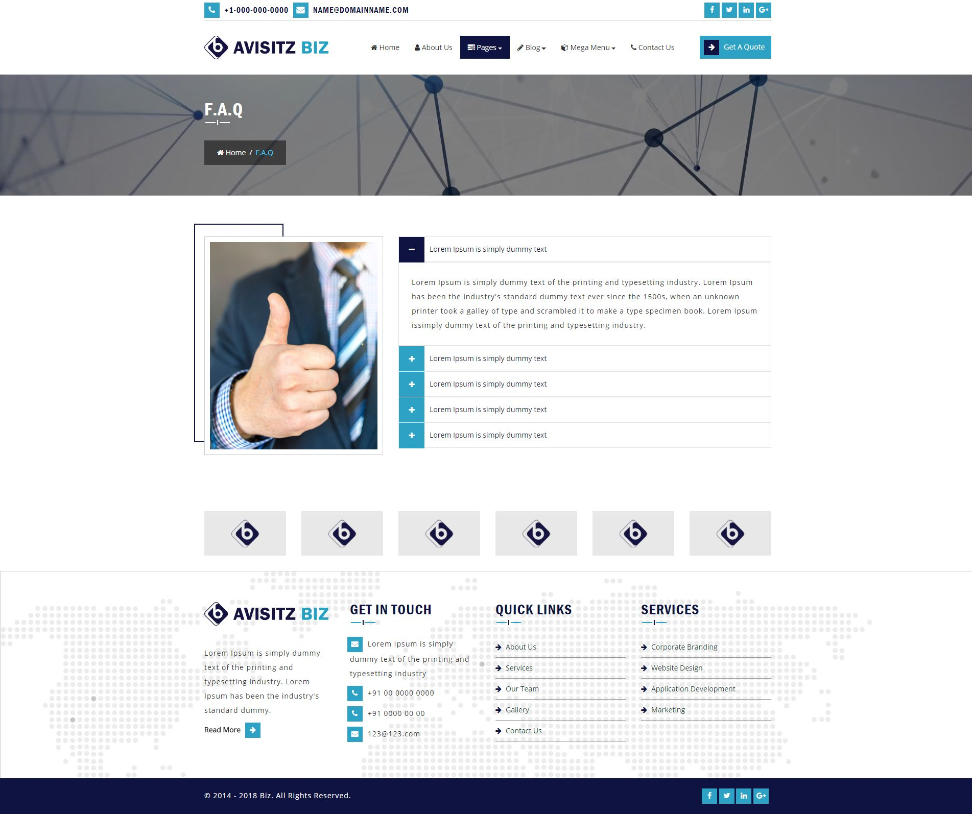 Avisitz Biz - Business Technology HTML5 Responsive Screenshot 11