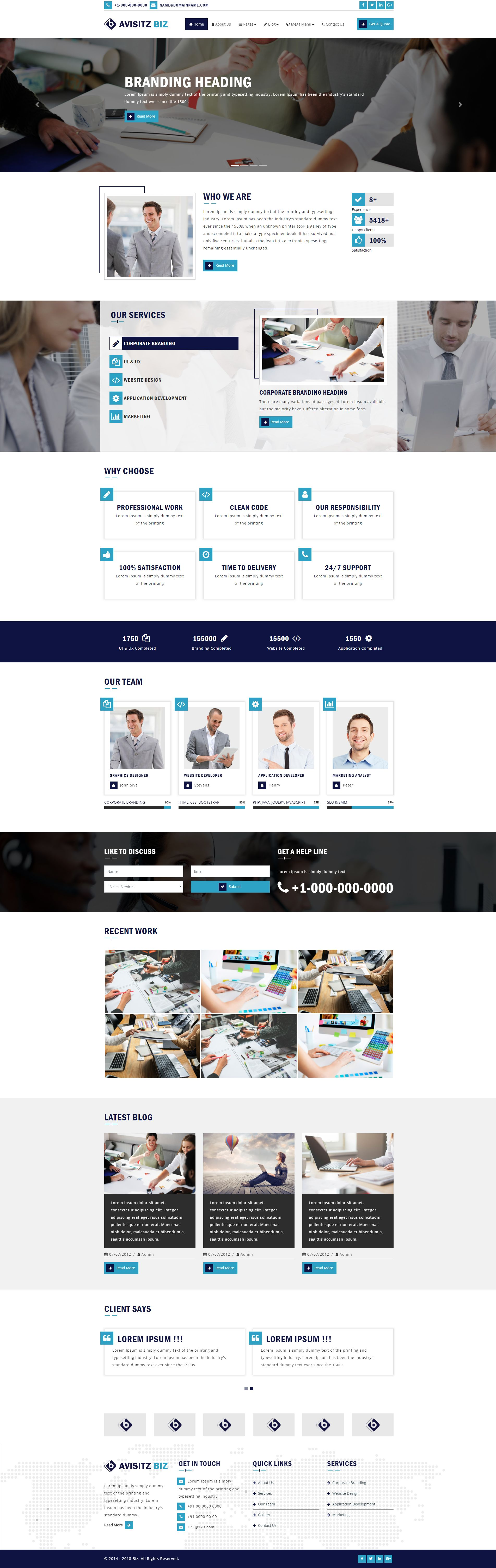 Avisitz Biz - Business Technology HTML5 Responsive Screenshot 13