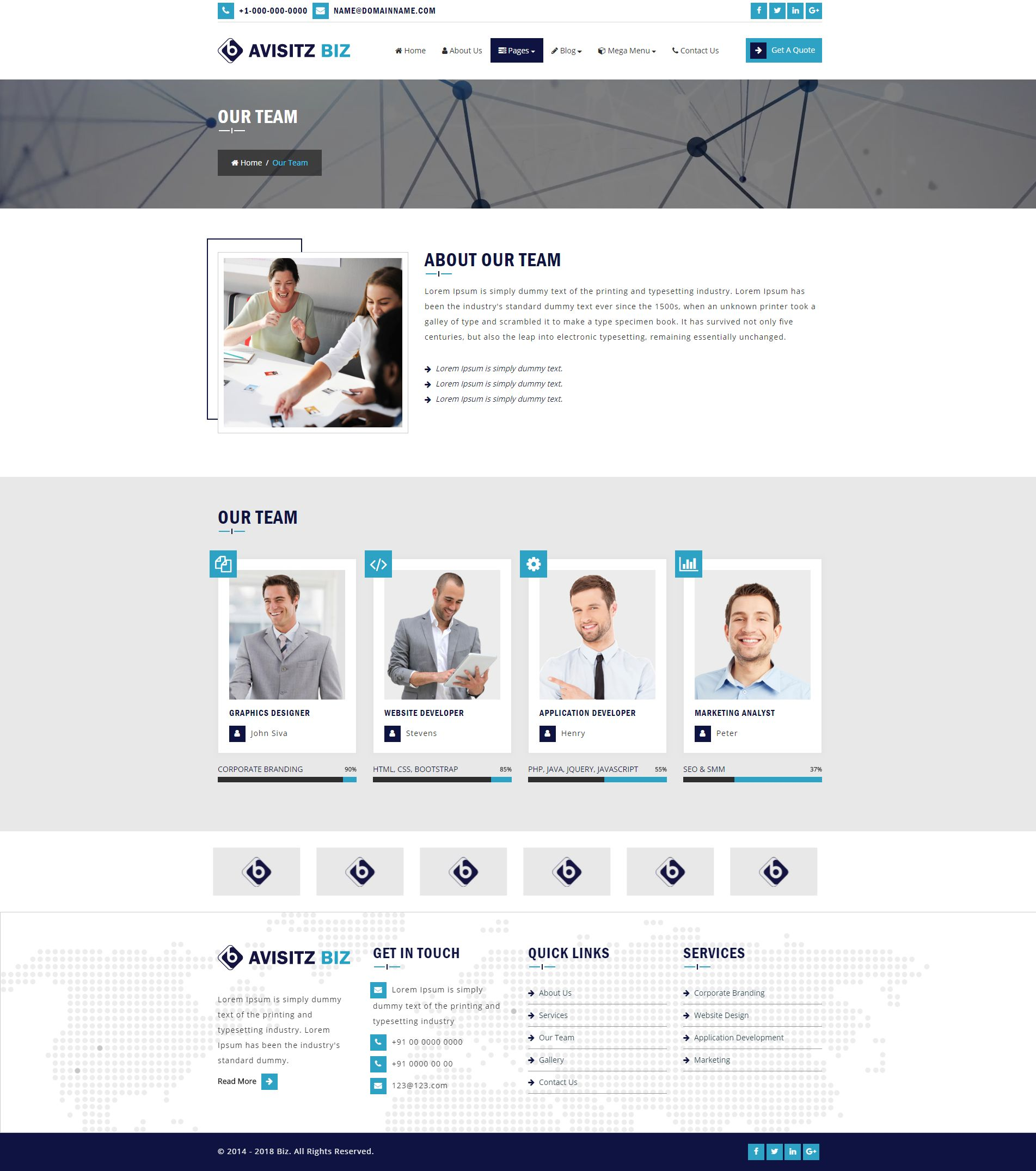 Avisitz Biz - Business Technology HTML5 Responsive Screenshot 14