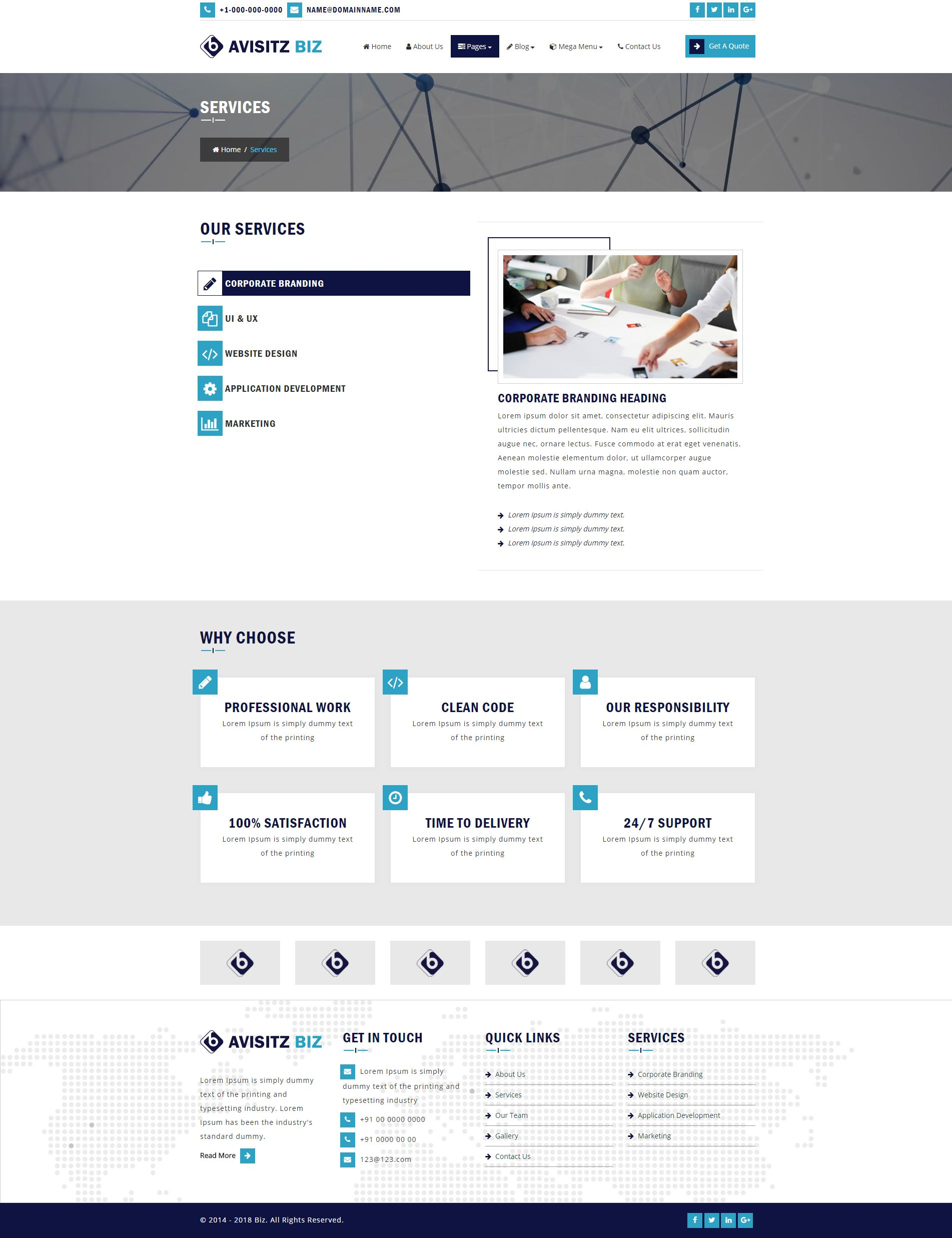 Avisitz Biz - Business Technology HTML5 Responsive Screenshot 16