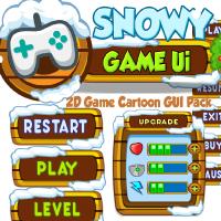 Snowy Cartoon Game Ui Set 04