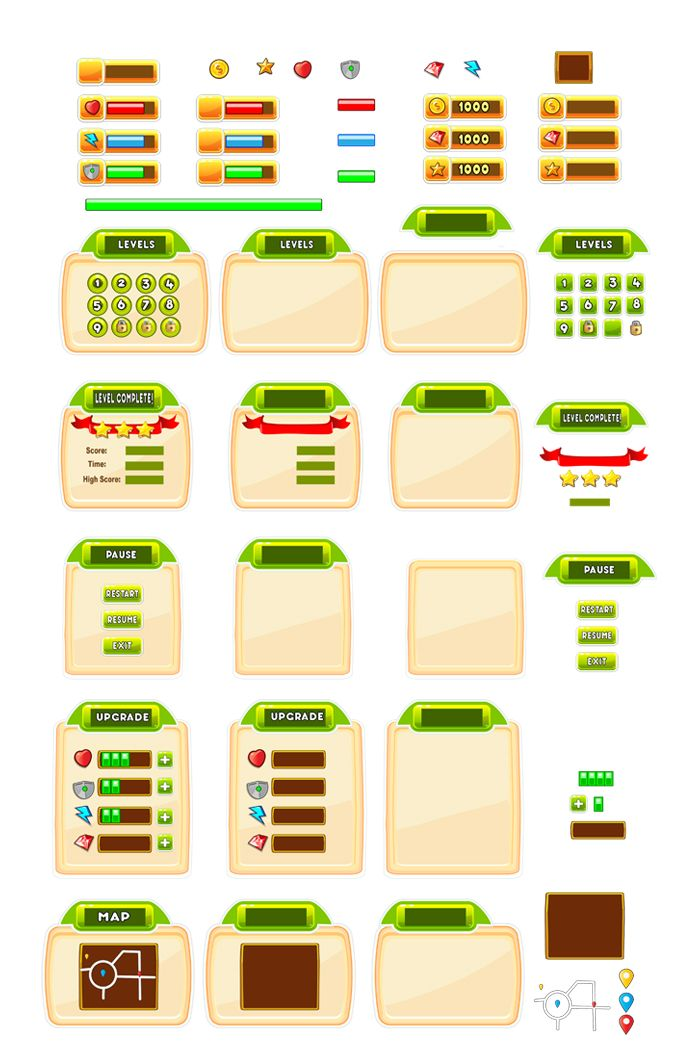 Cartoon Game Ui Set  06 Screenshot 1