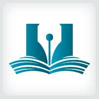 Book And Pen Logo Template