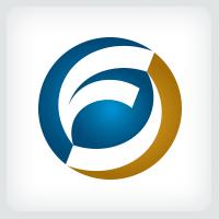 Sphere Letter F Logo