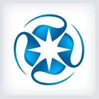 Geometric Blue Star Logo