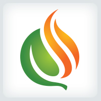 Leaf and Fire Logo