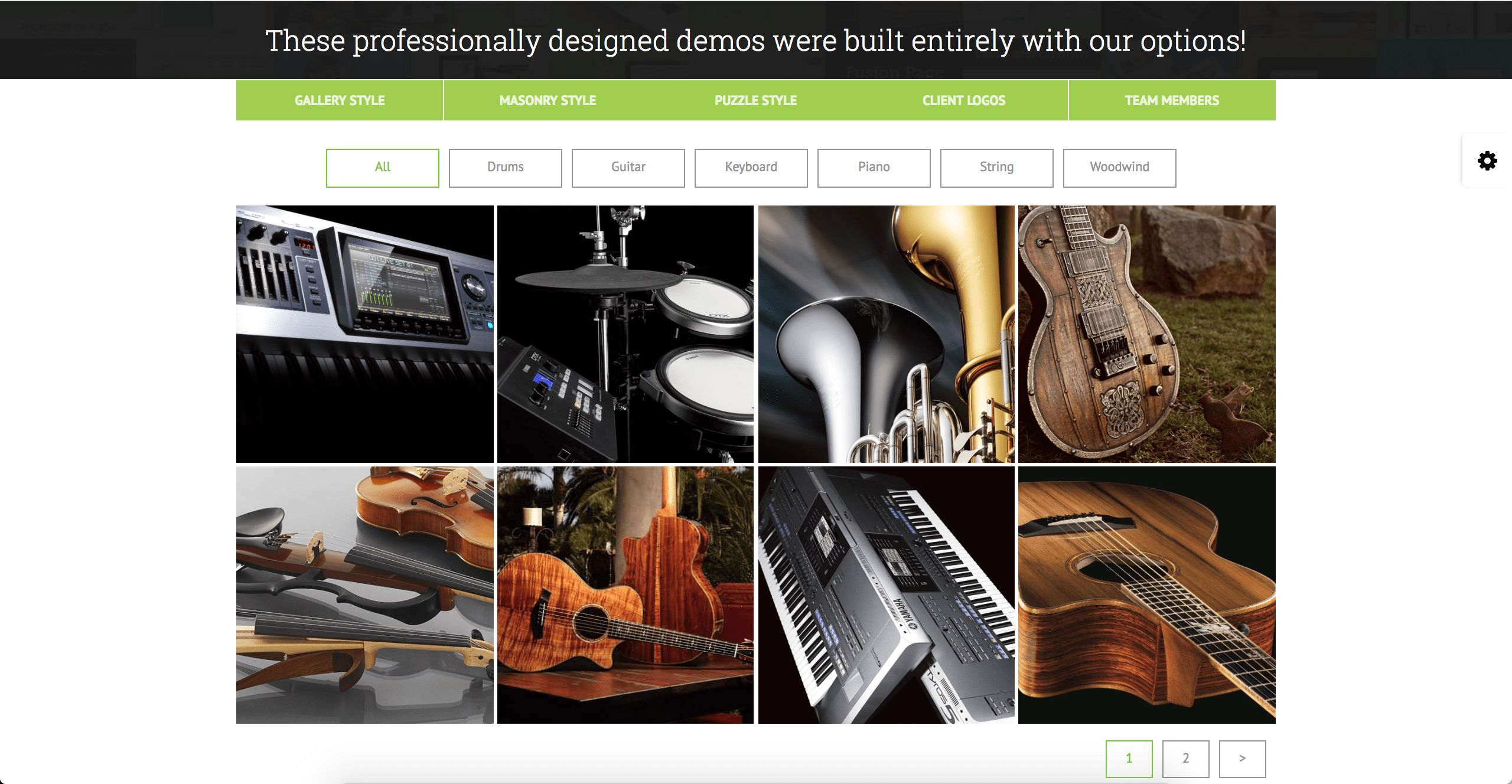 GridKit Portfolio Gallery WordPress Plugin Screenshot 1