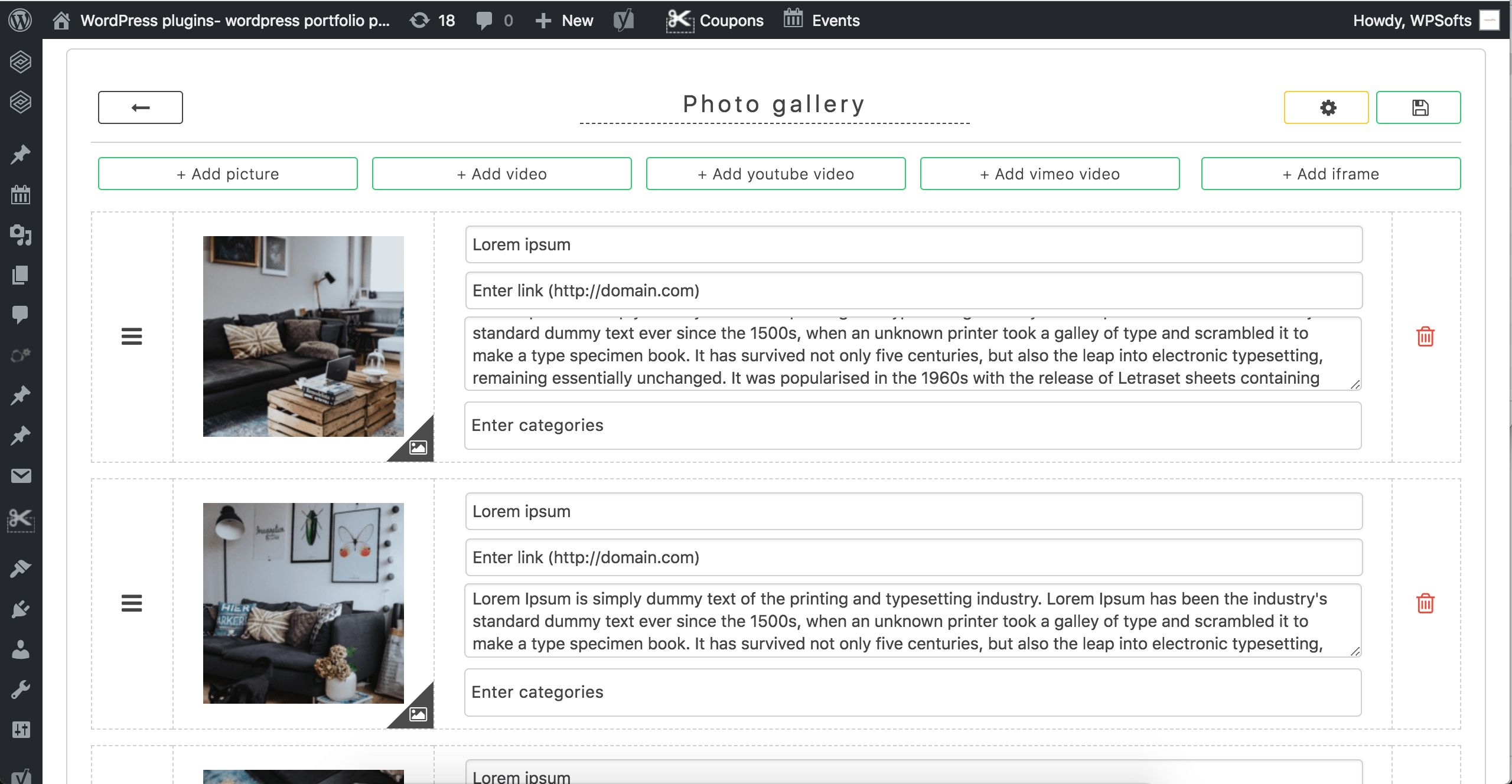 GridKit Portfolio Gallery WordPress Plugin Screenshot 2
