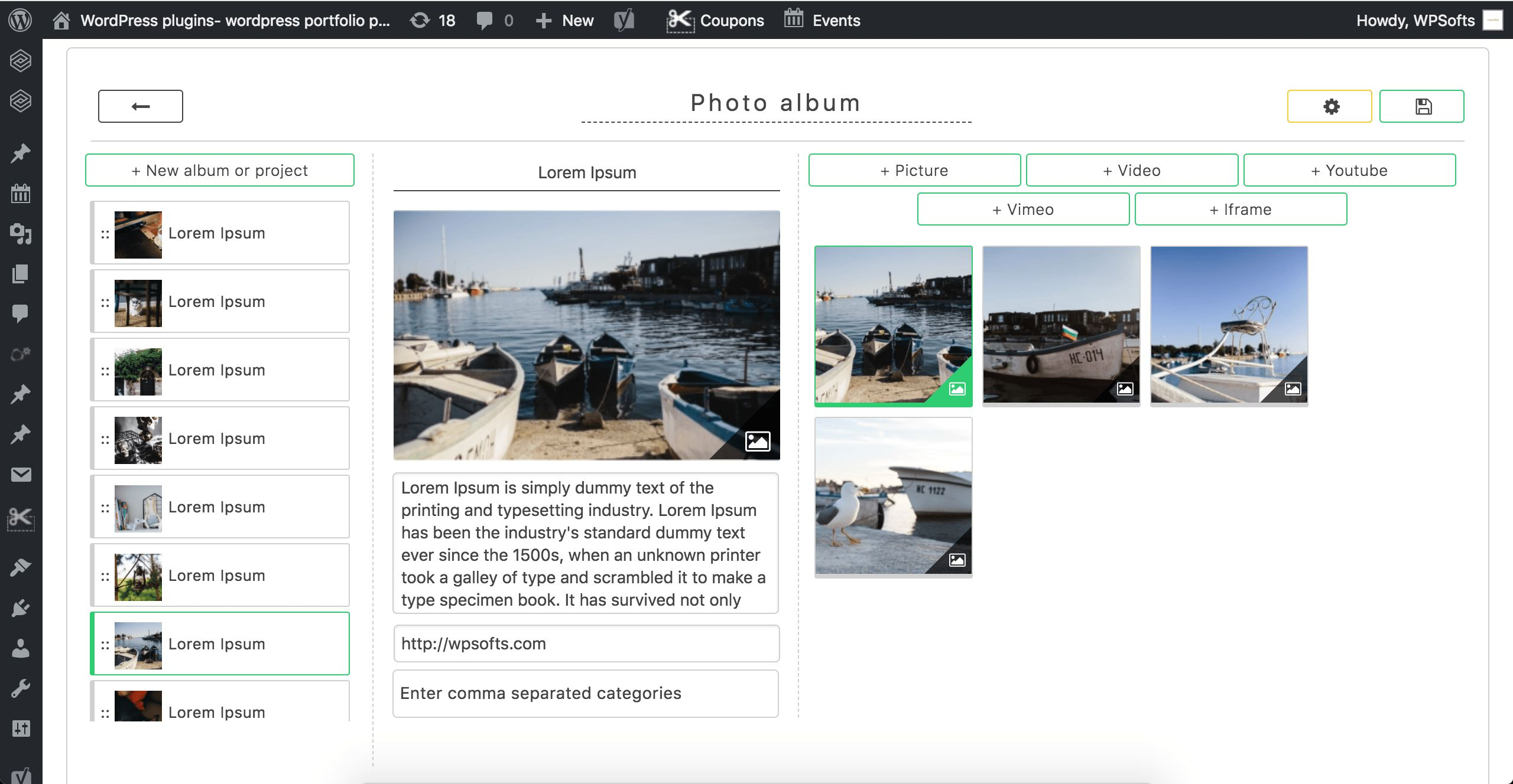 GridKit Portfolio Gallery WordPress Plugin Screenshot 3