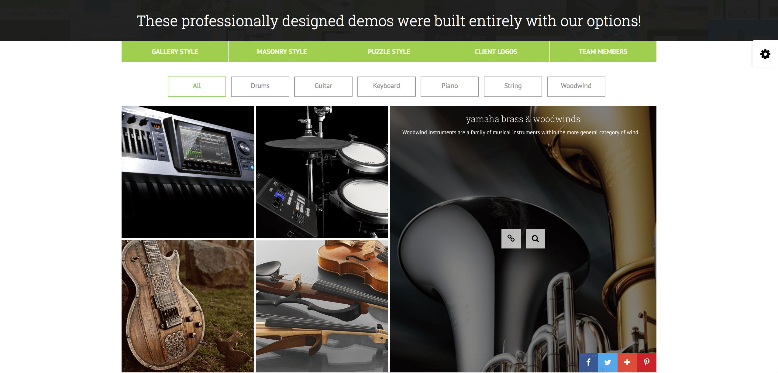 GridKit Portfolio Gallery WordPress Plugin Screenshot 8