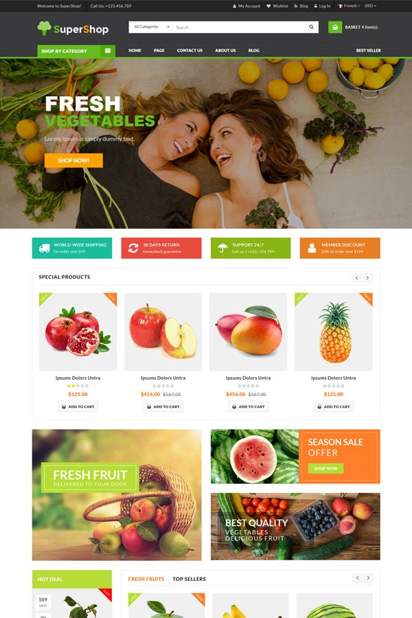 SuperShop - Multipurpose E-Commerce HTML Template Screenshot 1