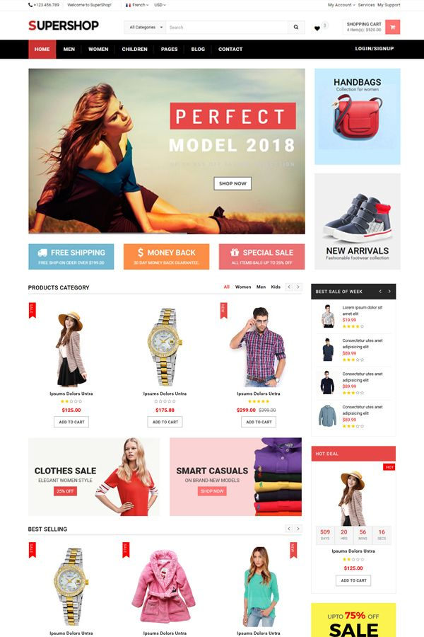 SuperShop - Multipurpose E-Commerce HTML Template Screenshot 3
