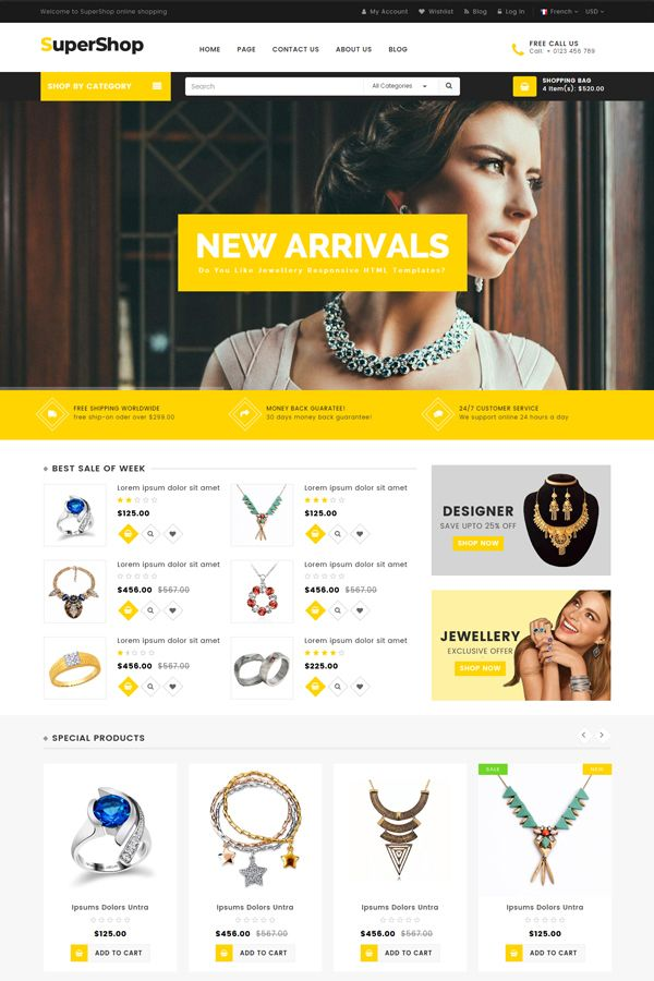 SuperShop - Multipurpose E-Commerce HTML Template Screenshot 4