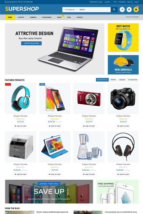 SuperShop - Multipurpose E-Commerce HTML Template Screenshot 5