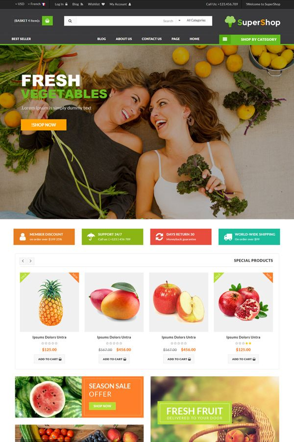 SuperShop - Multipurpose E-Commerce HTML Template Screenshot 6